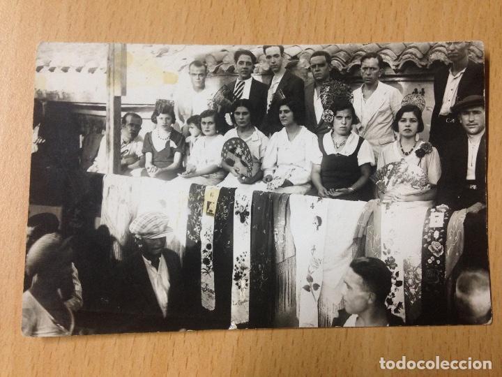 ANTIGUA FOTOGRAFIA TARJETA POSTAL FIESTAS POPULARES ALFONSO IZQUIERDO CARTAGENA MURCIA (Fotografía Antigua - Tarjeta Postal)