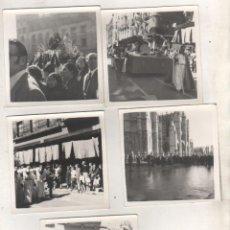 Fotografía antigua: LOTE DE 5 FOTOGRAFÍAS DE SEMANA SANTA DE LEÓN AÑO 1971 MEDIDAS 9 X 9 CM. Lote 114894899