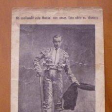 Fotografía antigua: A-007 ANTIGUA TARJETA POSTAL PUBLICITARIA DE MUSEO TAURINO HACIENDO REFERENCIA A JOSELITO EL GALLO. Lote 116389175