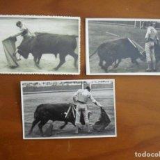 Fotografía antigua: A-010 LOTE DE 3 FOTO-POSTALES ANTIGUAS TAURINAS CON SELLO DEL FOTOGRAFO J.MAYMÓ - BARCELONA. Lote 116389719