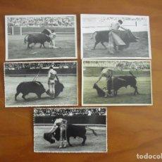 Fotografía antigua: A-012 LOTE DE 5 FOTO-POSTALES ANTIGUAS TAURINAS CON SELLO DE FOTOS VALLS. Lote 116390199