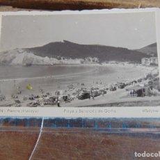 Fotografía antigua: TARJETA POSTAL VIZCAYA PLENCIA PLAYA Y SANATORIO DE GORLIZ MADYMA. Lote 116927719