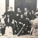Fotografía antigua: FOTOGRAFÍA POSTAL REY ALFONSO XIII VICTORIA EUGENIA MARIA CRISTINA DIGNATARIOS RECEPCIÓN PPIO S XX. Lote 117202143