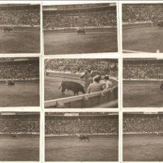 Fotografía antigua: 15 FOTOS, PEQUEÑO TAMAÑO, CORRIDA DE TOROS, PLAZA DE TOROS DE VISTA ALEGRE-BILBAO ???, 5,5X8, . Lote 118449567