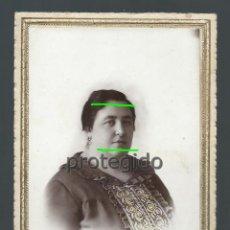 Fotografía antigua: RETRATO DE ESTUDIO.SEÑORA. CARTAGENA. 1930. FOTÓGRAFO MATRÁN. CARTAGENA Y ÁGUILAS, MURCIA.. Lote 119876367