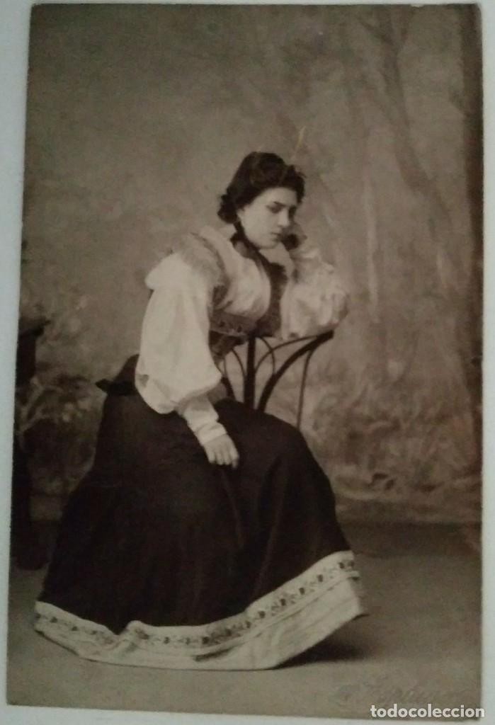 Fotografía antigua: POSTAL FOTOGRÁFICA RETRATO FOTÓGRAFO ANTONI ESPLUGAS I PUIG (1852 - 1929) - Foto 2 - 120268823