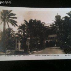 Fotografía antigua: 209 LAS PALMAS DE GRAN CANARIA JARDINES HOTEL SANTA CATALINA ED.D.E.C.. Lote 120527859
