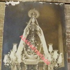 Fotografía antigua: GUADALCANAL, SEVILLA, ANTIQUISIMA POSTAL FOTOGRAFICA DE LA VIRGEN DE GUADIATOCA. Lote 120550459