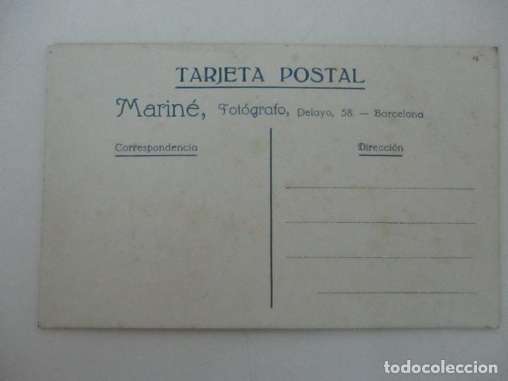 Fotografía antigua: Tarjeta Postal - Foto Familiar - Fotógrafo Mariné - Principios S. XX - Foto 3 - 120992051
