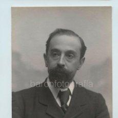 Fotografía antigua: JOAN MARAGALL (1860-1911) POETA, FOTOGRAFÍA DE AUDOUARD, BARCELONA.. Lote 121019939