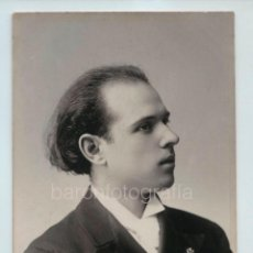 Fotografía antigua: PAU CASALS (1876-1973) FOTOGRAFÍA DE ESPLUGAS. 1910 APROX.. Lote 121021535