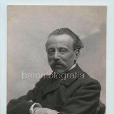 Fotografía antigua: NARCÍS OLLER I MORAGAS, ESCRITOR CATALÁN. FOTO AUDOUARD. 1910'S.. Lote 121021675
