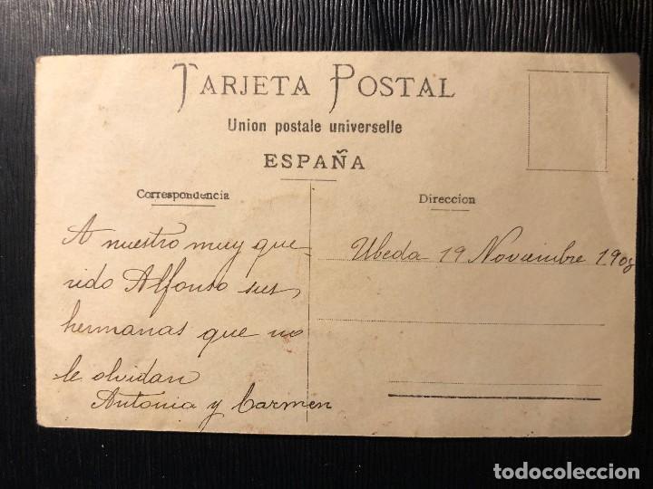 Fotografía antigua: FOTOGRAFÍA ANTIGUA PAREJA DE HERMANAS ANTONIA CARMEN DEDICATORIA ÚBEDA 1908 - Foto 3 - 121199371