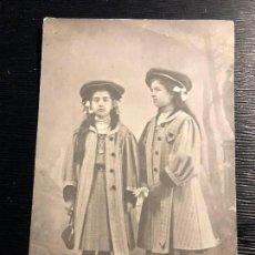 Fotografía antigua: FOTOGRAFÍA ANTIGUA PAREJA DE HERMANAS ANTONIA CARMEN DEDICATORIA ÚBEDA 1908 . Lote 121199371