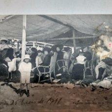 Fotografía antigua: POSTAL PLAYA BRISTOL 1911 MAR DEL PLATA. Lote 121552331