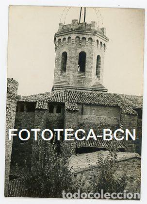 FOTO ORIGINAL TREMP IGLESIA BASILICA MARE DE DEU DE VALLDEFLORS AÑO 1959 (Fotografía Antigua - Tarjeta Postal)