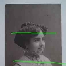 Fotografía antigua: RETRATO FEMENINO. HARO HERMANOS. FOTÓGRAFOS. CARTAGENA, MURCIA.. Lote 122659511