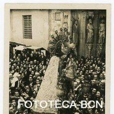 Fotografia antiga: FOTO ORIGINAL VALENCIA CATEDRAL POSIBLEMENTE FALLAS DEFILE DE LA VIRGEN DESAMPARADOS AÑOS 30. Lote 122873375