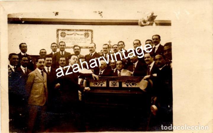 SEVILLA, 1917, FERIA DE ABRIL, EL PIANISTA ARTHUR RUBINSTEIN EN LA CASETA DEL ATENEO, TOP RARA (Fotografía Antigua - Tarjeta Postal)