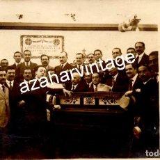 Fotografía antigua: SEVILLA, 1917, FERIA DE ABRIL, EL PIANISTA ARTHUR RUBINSTEIN EN LA CASETA DEL ATENEO, TOP RARA. Lote 122946059