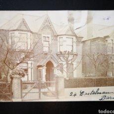 Fotografía antigua: FOTO DE LAS CASAS INGLESAS EN CALLE CASTELNAU BARNES LONDRES INSCRITA 1912 CIRCULADA. Lote 123293796