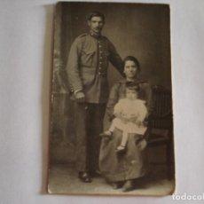 Fotografía antigua: ANTIGUA TARJETA POSTAL FOTO DE FAMILIA SIN USAR. Lote 124265067