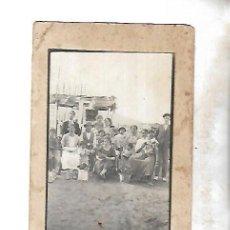 Fotografía antigua: POSTAL FOTOGRAFICA. CADIZ. CHABOLAS QUE HABIA EN ISECOTEL . LEER. CERDOS, DUROS ANTIGUOS. VER. Lote 125271403