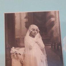 Fotografía antigua: POSTAL FOTÓGRAFO COMUNION COLECCIONISMO O ALMACÉN DO COLISEVM. Lote 128039291