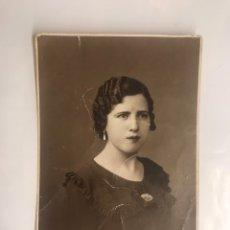 Fotografía antigua: FOTOGRAFÍA JOVEN SEÑORITA POSANDO. FOTÓGRAFO VALENCIANO BODULL (H.1920?). Lote 128495455