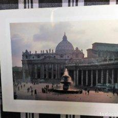 Fotografía antigua: FOTO DE ROMA DE 30 X 24, PARA ENMARCAR DE PIAZZA S PIETRO. Lote 128655227