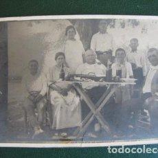 Old photograph - Foto costumbrista. Fiesta campestre con la paella Valencia. 1920 - 128955283