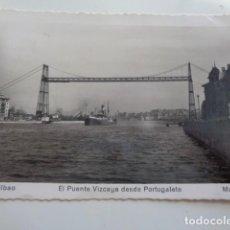 Fotografía antigua: PORTUGALETE. VIZCAYA. PUENTE DE VIZCAYA. POSTAL 1952 CIRCULADA.. Lote 129439323
