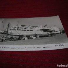 Fotografía antigua: FOTO RUBIO.CEUTA EL TRANSBORDADOR - VICTORIA - CORREO DE CEUTA.ALGECIRAS.. Lote 129447799