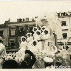 Fotografía antigua: MURCIA. CARROZA PARTICIPANTE EN LA BATALLA DE FLORES DE 1913. FOTÓGRAFO MATEO-MURCIA.. Lote 129659167