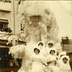Fotografía antigua: MURCIA. CARROZA DEL 'COSO BLANCO' PARTICIPANTE EN LA BATALLA DE FLORES DE 1913. . Lote 130130339