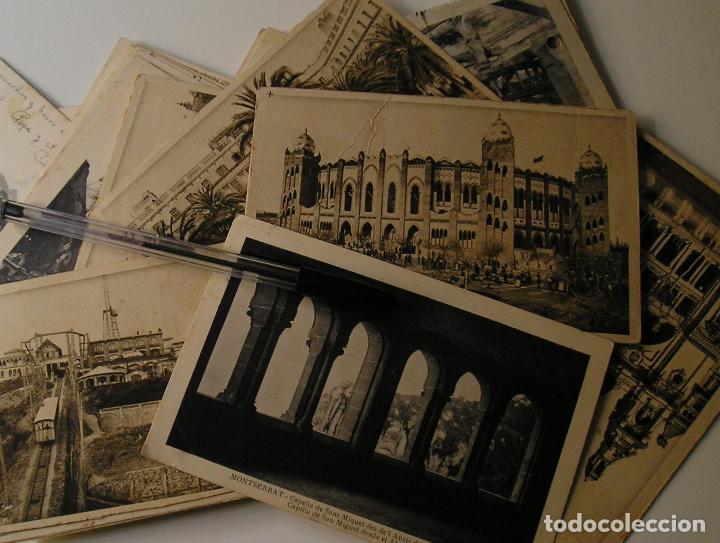 LOTE 45 POSTALES DE BARCELONA AÑOS 40 CIRCULADAS FOTOS DE TODAS LAS POSTALES (Fotografía Antigua - Tarjeta Postal)