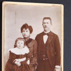 Fotografía antigua: FOTOGRAFIA ANTIGUA - FAMILIA - FOTOGRAFO: EHRHARD - PARIS. Lote 130554730