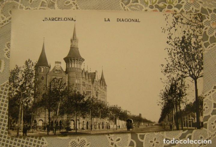 BARCELONA, LA DIAGONAL (CASA DE LES PUNXES) POSTAL FOTOGRAFICA EN BUEN ESTADO SIN CIRCULAR (Fotografía Antigua - Tarjeta Postal)