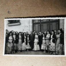 Fotografía antigua: ANTIGUA FOTOGRAFÍA POSTAL. FALLERAS. FALLAS DE VALENCIA. FOTOGRAFO FINEZAS. FOTO POSTAL AÑO 1943.. Lote 131166632