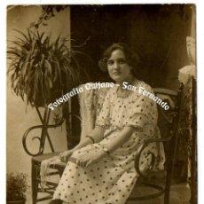 Fotografía antigua: QUIJANO. SAN FERNANDO. CÁDIZ. FECHADA 1920. SELLO EN SECO.. Lote 131196224