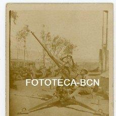 Fotografía antigua: FOTO ORIGINAL SOLDADO CON AMETRALLADORA TEMSAMAM MARRUECOS ESPAÑOL AÑO 1940. Lote 131492542