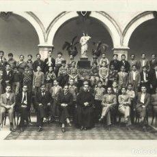 Fotografía antigua: MATARÓ. COLEGIO SALESIANO. INTERNADO. R. ESTAPÉ FOTÓGRAFO. GRUPO ESCOLAR 1931-32. 18X24 CM.. Lote 131623586