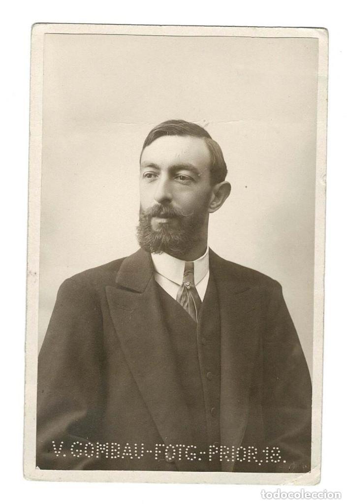 RETRATO DEL GANADERO SALMANTINO RAFAEL LAMAMIÉ DE CLAIRAC. (Fotografía Antigua - Tarjeta Postal)