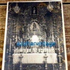 Fotografía antigua: SEVILLA, 1934, ALTAR DE LA INMACULADA, ANTIGUO SEMINARIO, RARA. Lote 131967090