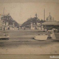 Fotografía antigua: BARCELONA. PASEO DE COLON. FOT. LUIS BARTRINA. THOMAS BARCELONA POSTAL DOBLE 18 X 14. Lote 132435038