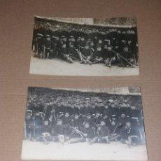 Fotografía antigua: POSTALES. REGIMIENTO DE INFANTERÍA EN UN TRAMO MURALLA CARTAGENA. CIRCA 1920, SIN CIRCULAR, CASAÚ. Lote 132670554