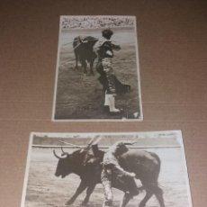 Fotografía antigua: POSTALES. TOROS, EXCLUSIVAS PARA DÍA GRÁFICO. CIRCA 1930, SIN CIRCULAR, FOTO MATEO (BARCELONA). Lote 132670862