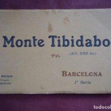 Fotografía antigua: MONTE TIBIDABO-BARCELONA-ALBUM DE 15 POSTALES.ED.L.ROISIN,HACIA 1920.. Lote 133675982