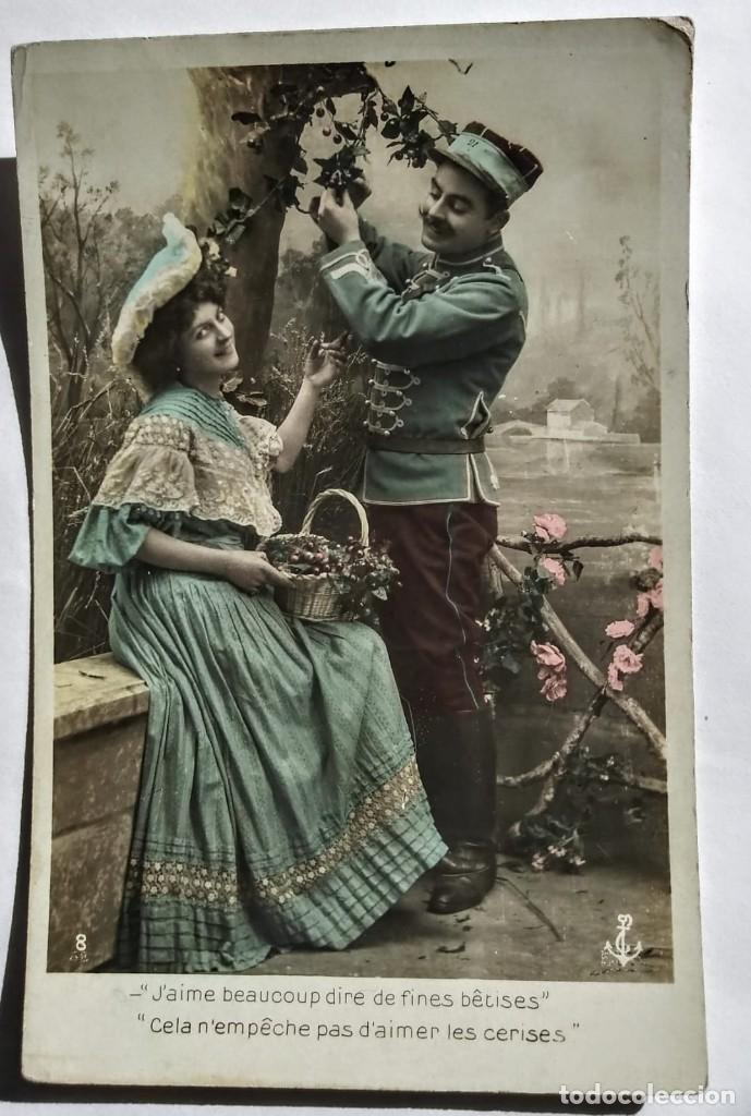 FOTO POSTAL FRANCESA ROMANTICA (Fotografía Antigua - Tarjeta Postal)