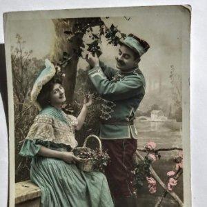 foto postal francesa romantica